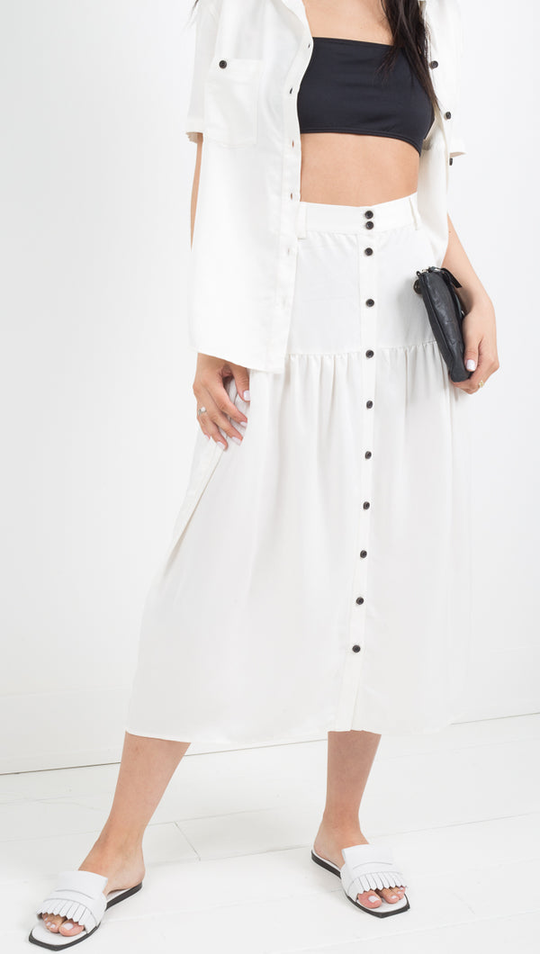 Third Form white button down midi skirt