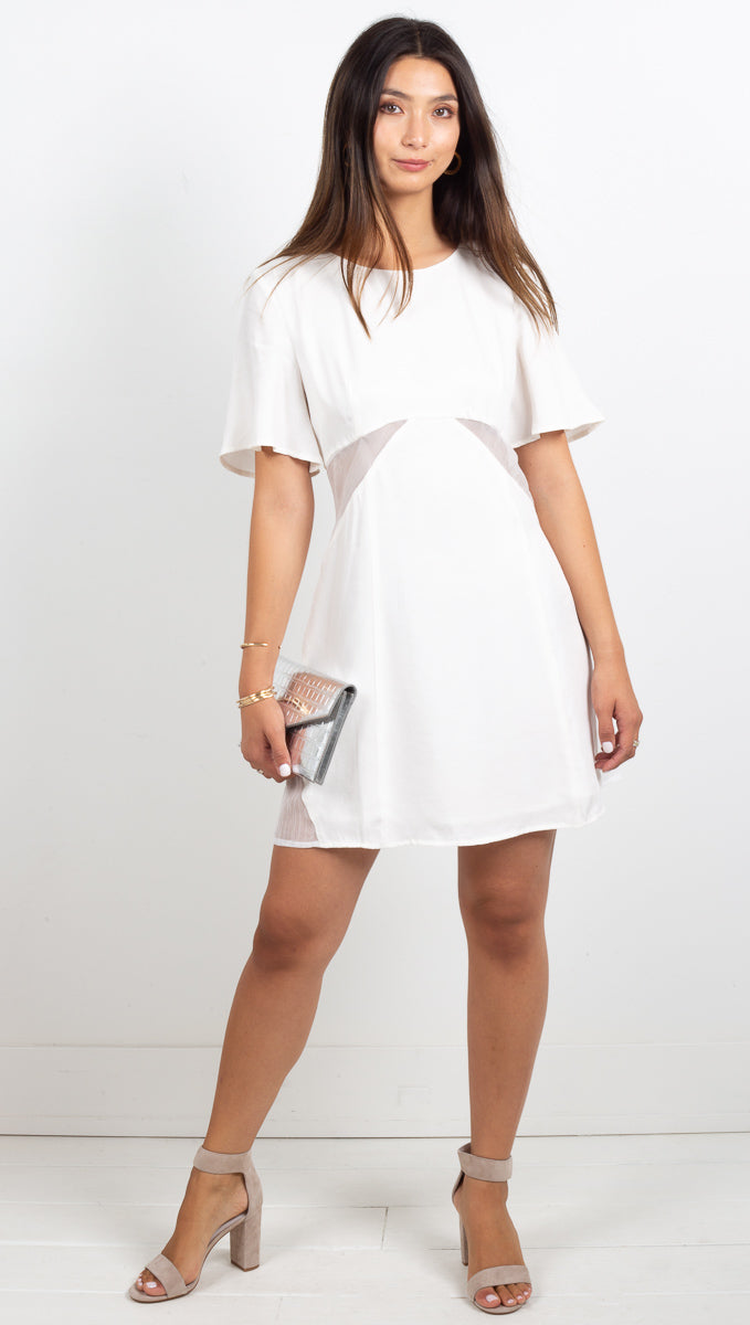 Peek Show Tee Dress - Off White