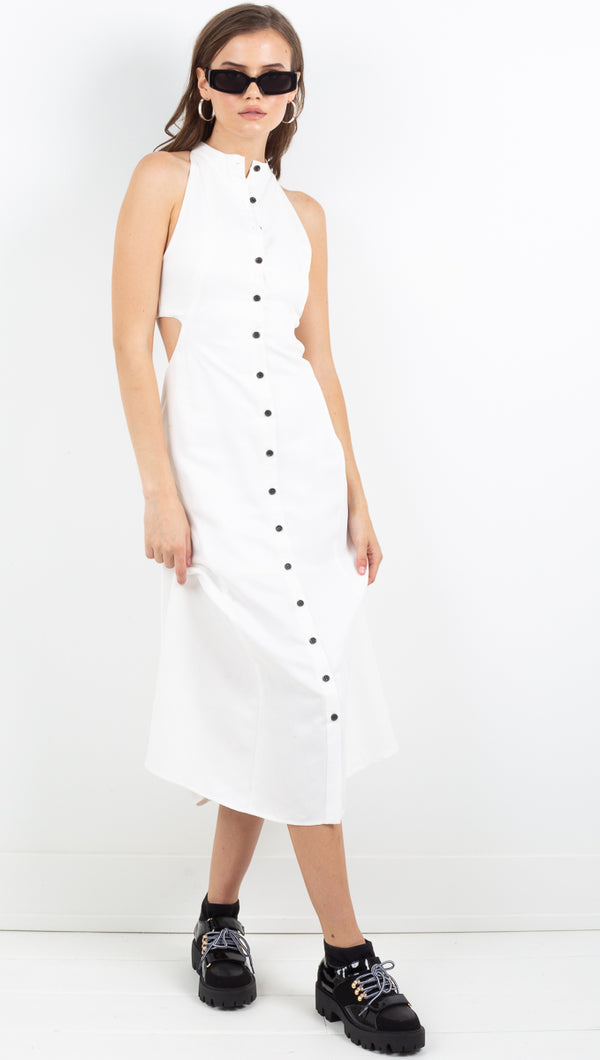 Vice Versa Maxi Dress - Off White