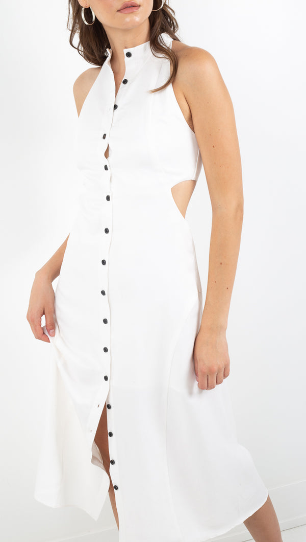 Third Form off white high neck maxi dress
