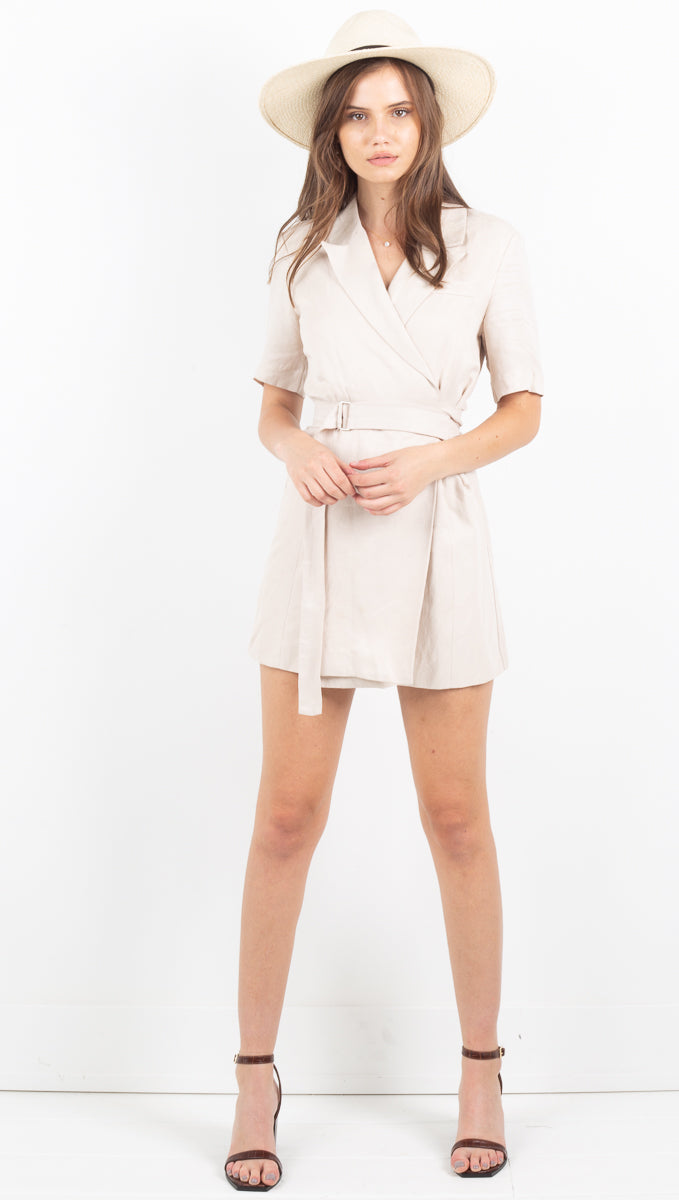 TCB Blazer Dress - Bone