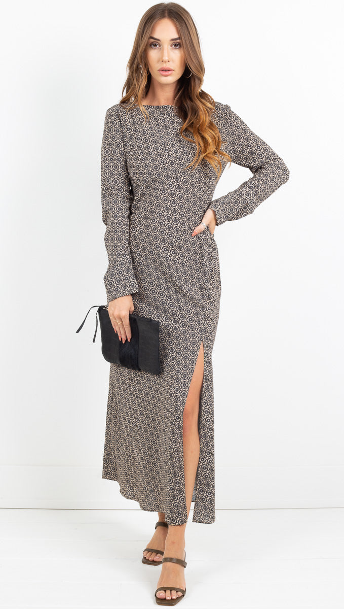 Mosaic Bias Maxi Dress - Mosaic