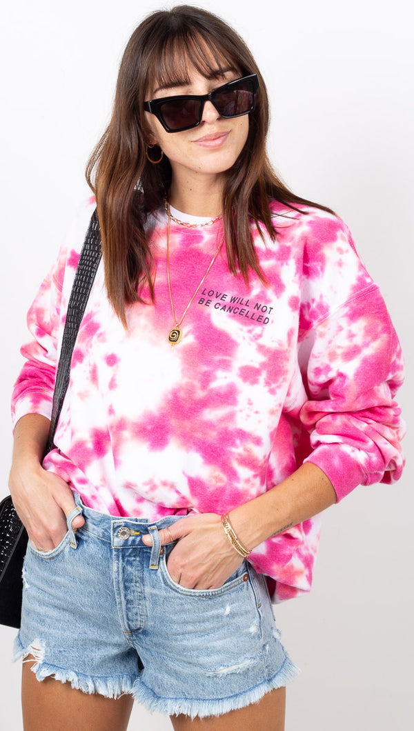 Love Will Not Be Cancelled Sweatshirt - Pink