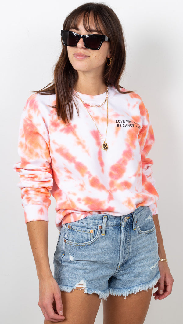 Love Will Not Be Cancelled Sweatshirt - Caelynn Peach