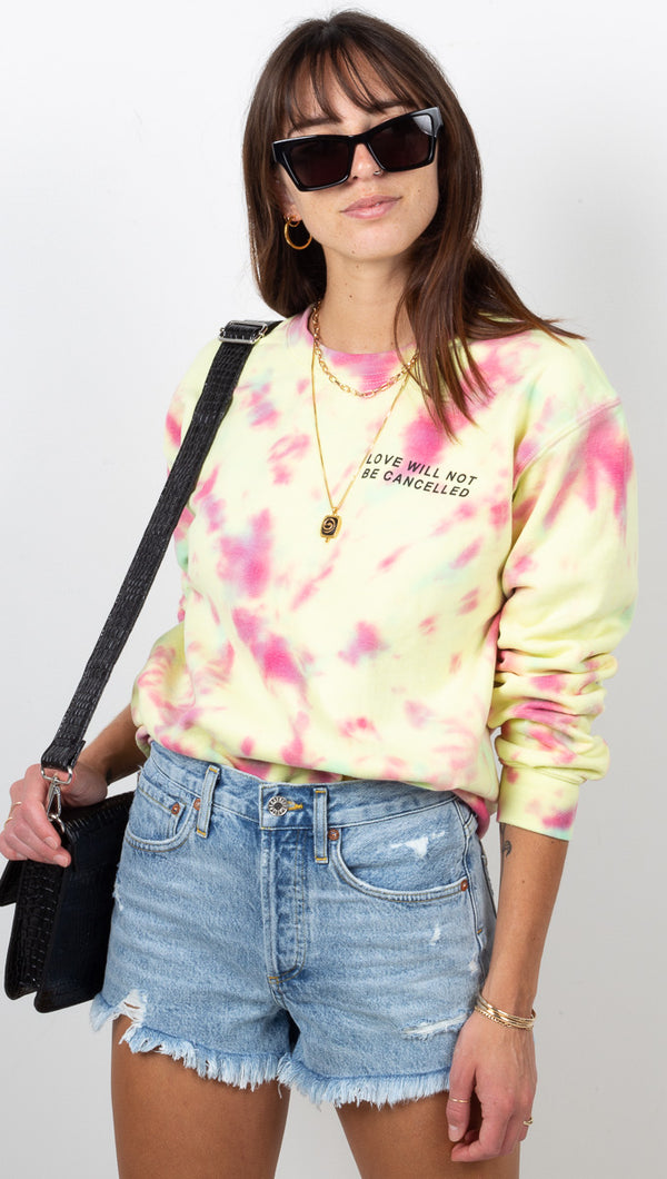 Love Will Not Be Cancelled Sweatshirt - Rainbow