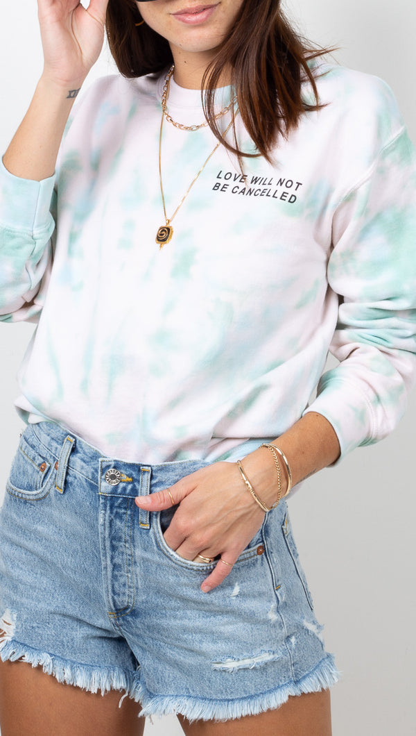Van De Vort Seafoam and Blush Tie Dye Sweatshirt
