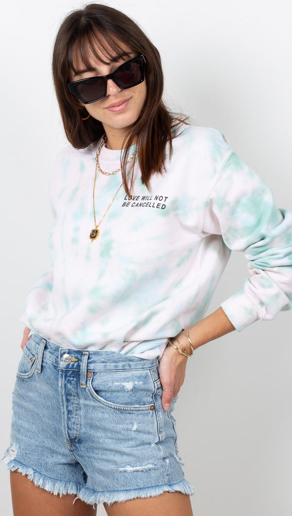Love Will Not Be Cancelled Sweatshirt - Seashell