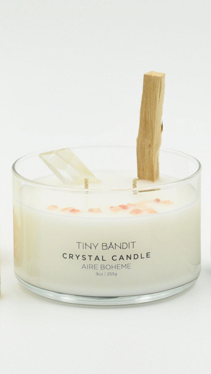 9 Oz Crystal Candle - Aire Boheme