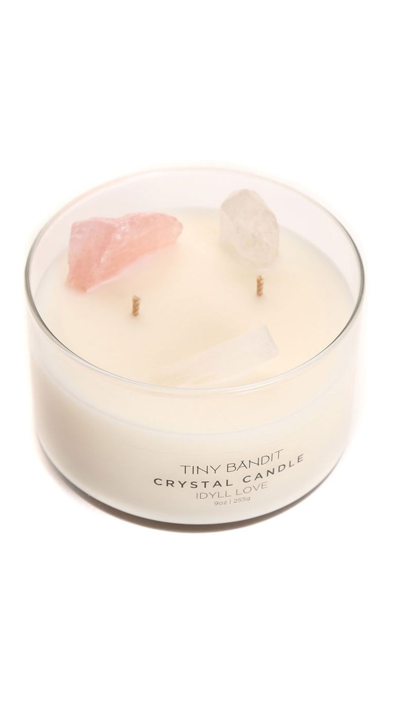 9 Oz Crystal Candle - Idyll Love
