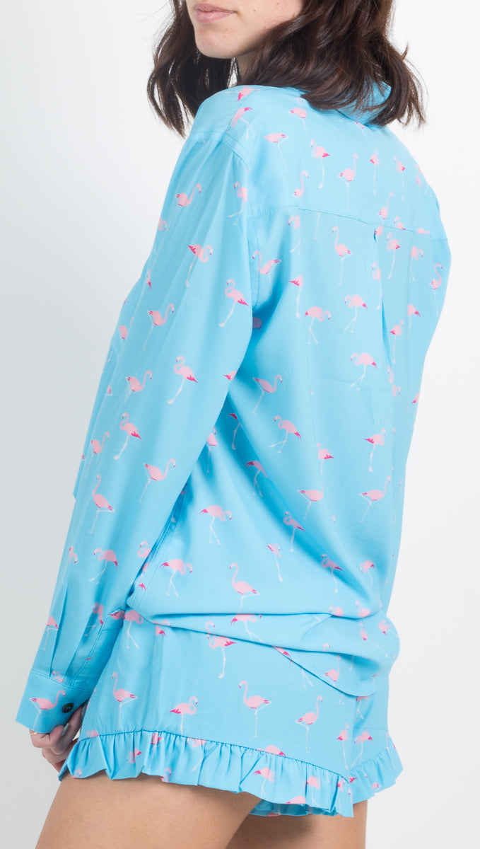 Pacific Button Down - Flamingos