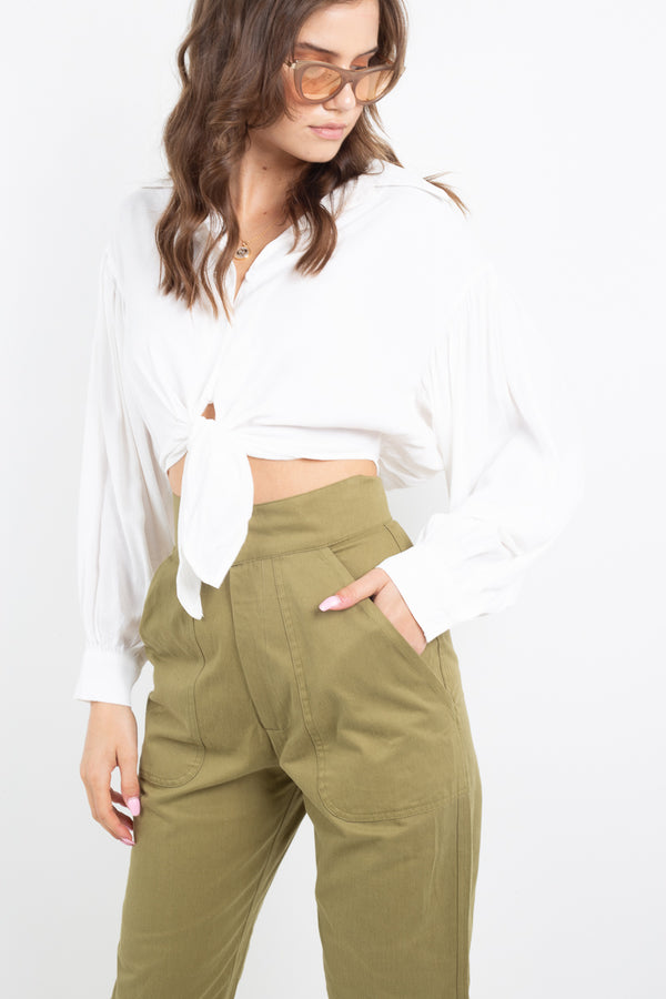 Montauk Tie Blouse - Off White