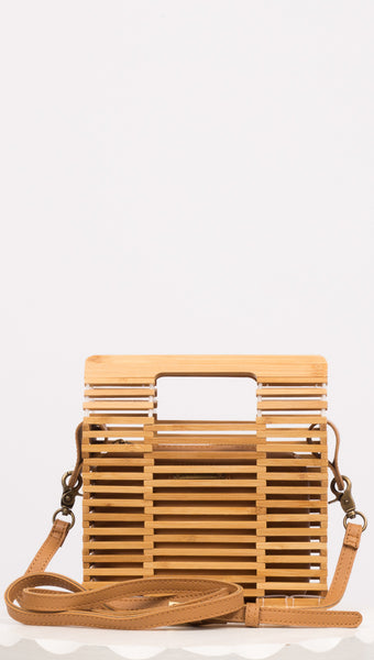 Santorini Crossbody - Wood