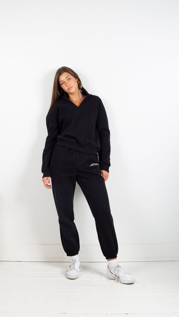 Collared Jumper - Black