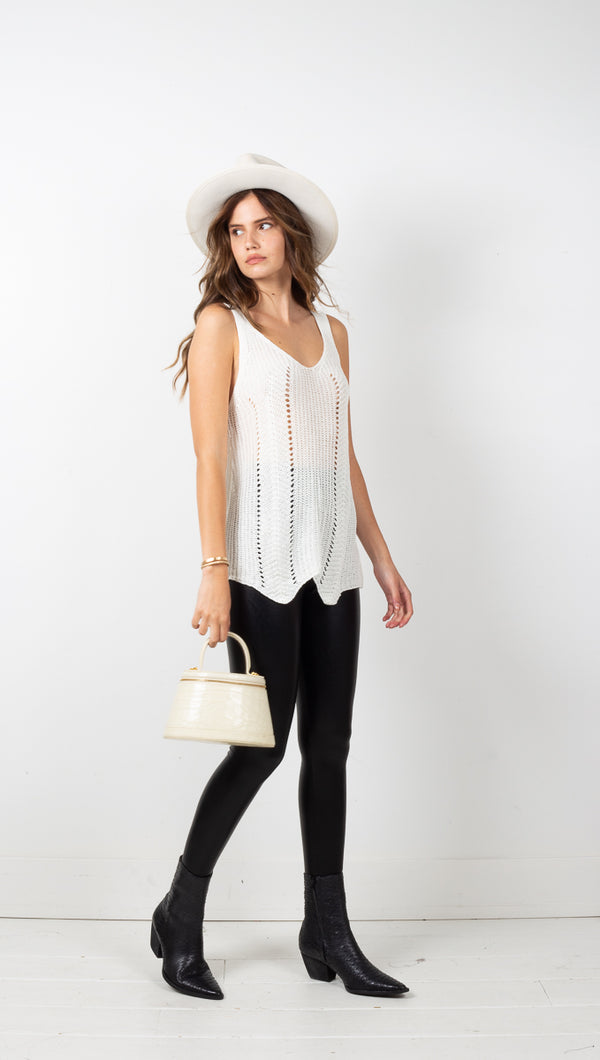La Jolla Sweater Cami - Off White