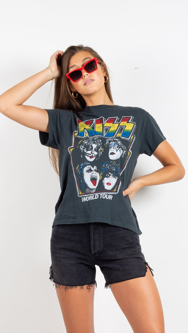 Kiss Forever Tour Tee - Vintage Black