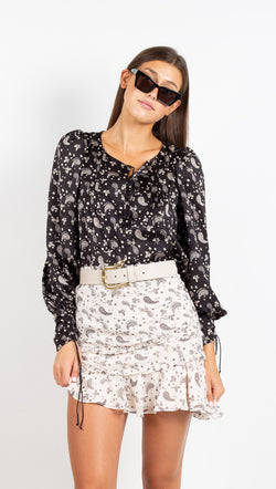 Paisley Blouse - Black