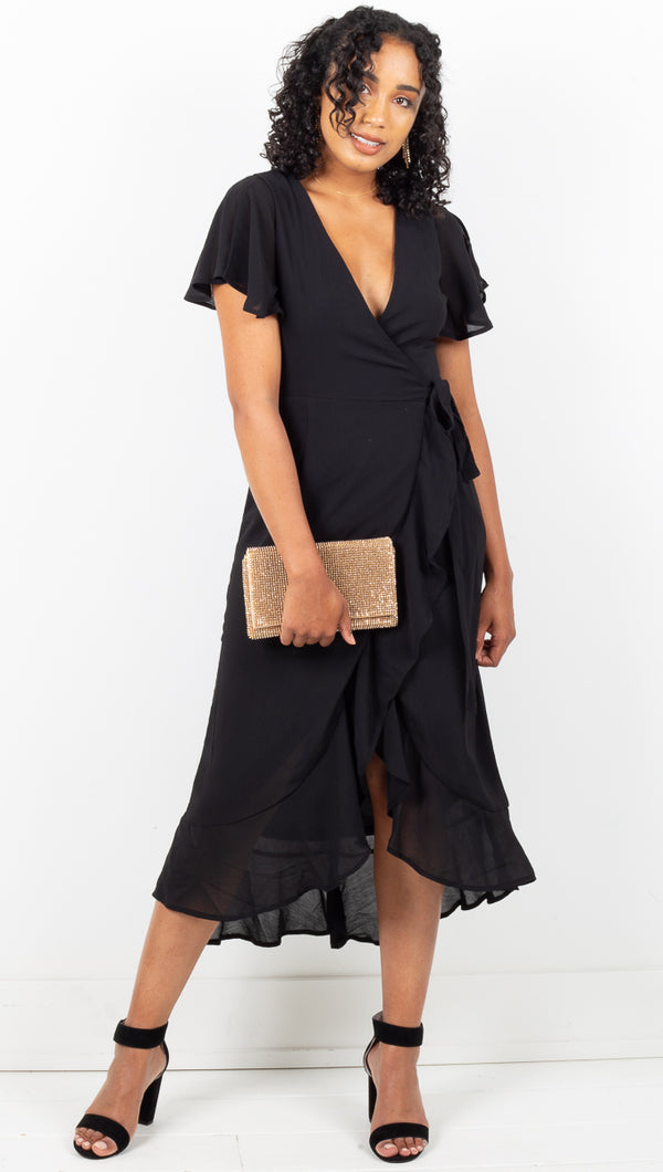 Renee Wrap Dress - Black