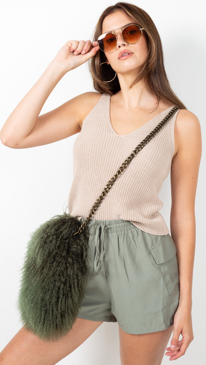 Sarah Sweater Tank - Oatmeal