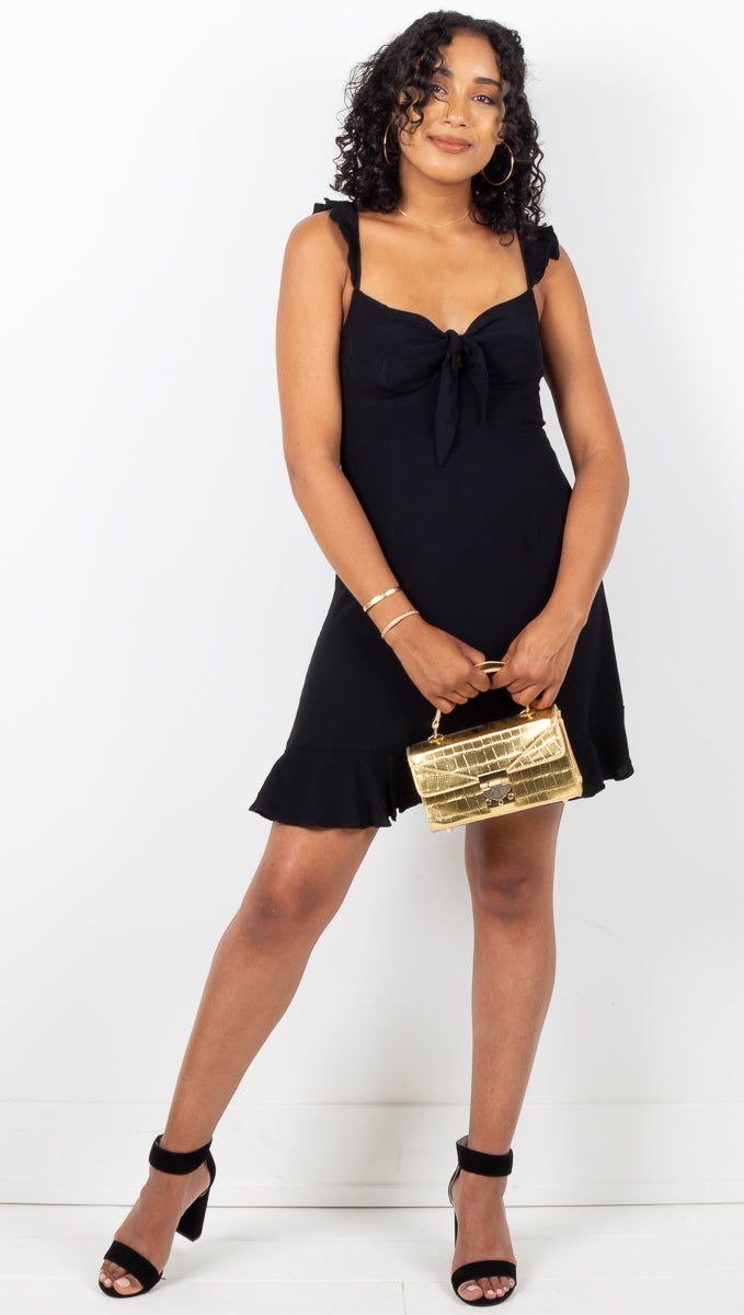 Positano Mini Dress - Black