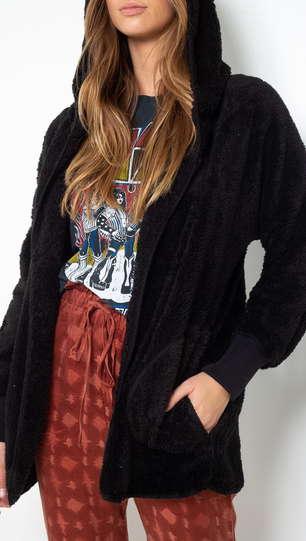 Vagabond Black Fuzzy Jacket
