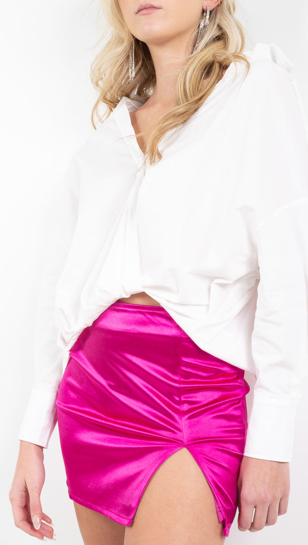 Vagabond Hot Pink Mini Skirt