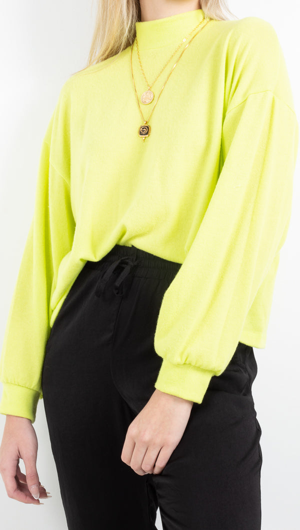 Vagabond Lime Green Cropped Sweater