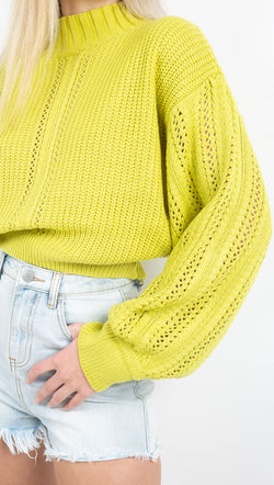 Vagabond Lime Green Sweater