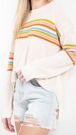 Vagabond Rainbow Striped Sweater