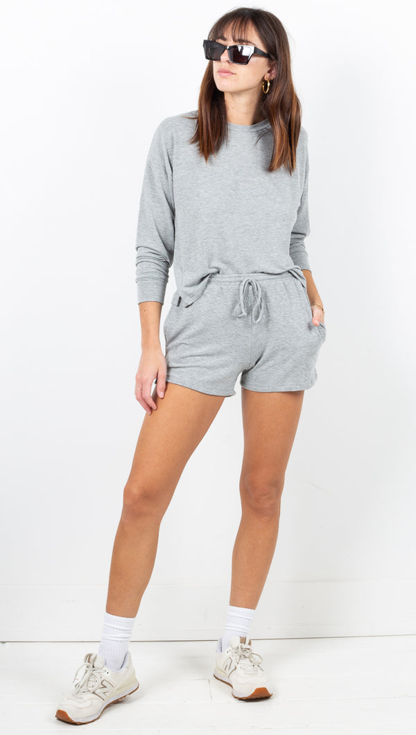 Off Duty Lounge Set - Heather Grey