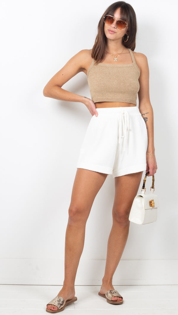 Sunday Knit Shorts - Off White