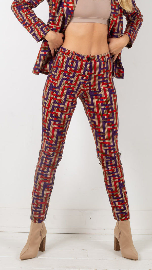 Penelope Labyrinth Trousers - Multicolor