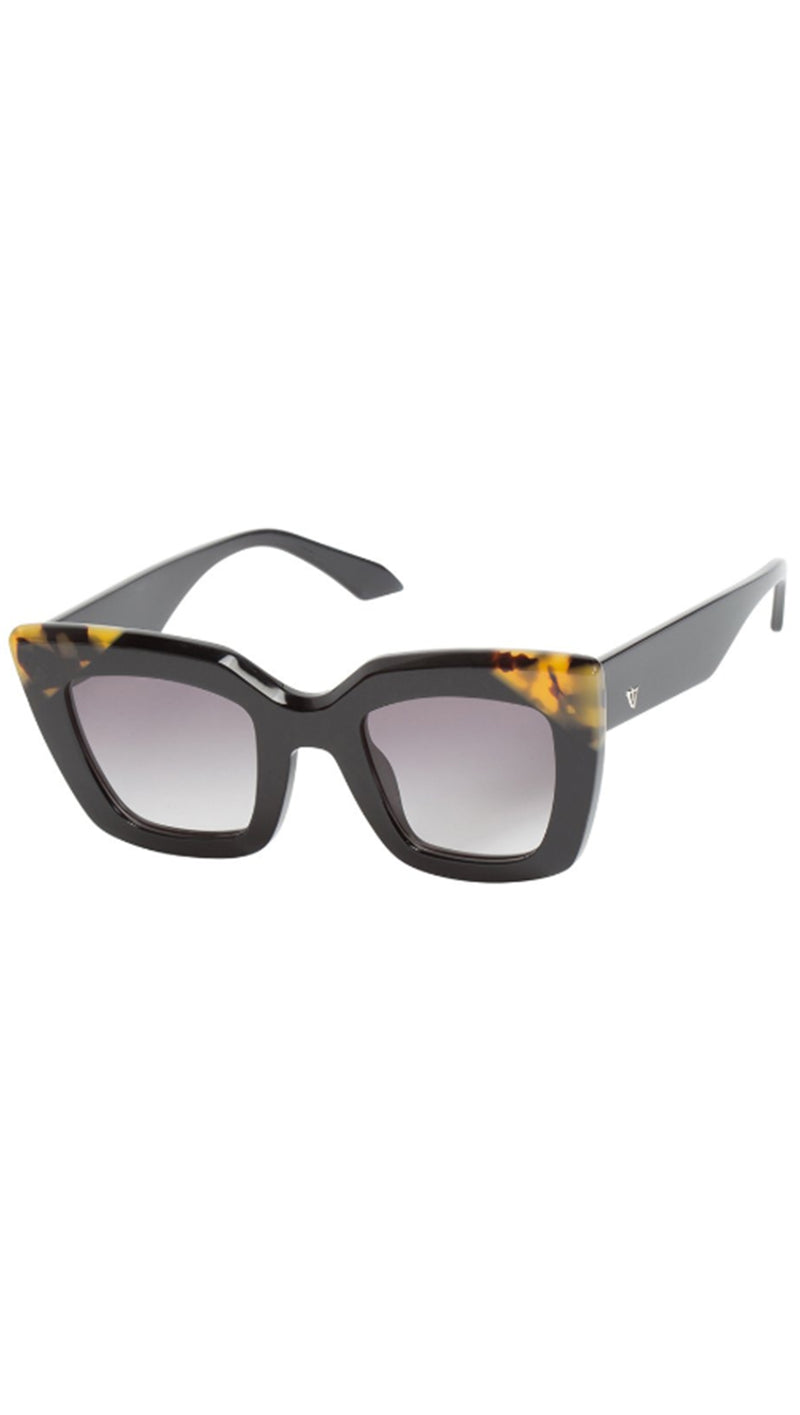 Brigada - Gloss Black With Tort Brown Corners/Black Gradient Lens