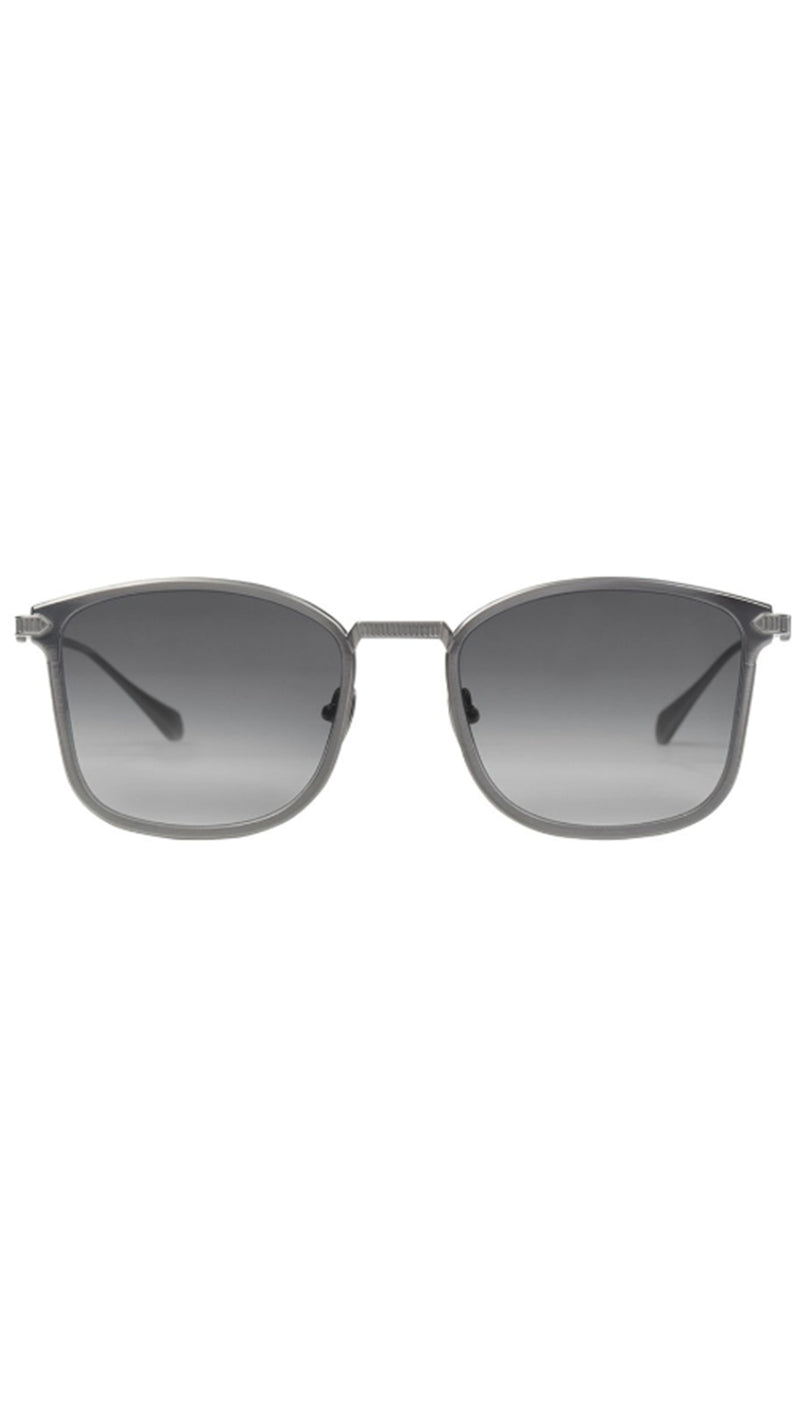 Hellmet - Brushed Gun Metal Grey Titanium/Black Gradient Lens