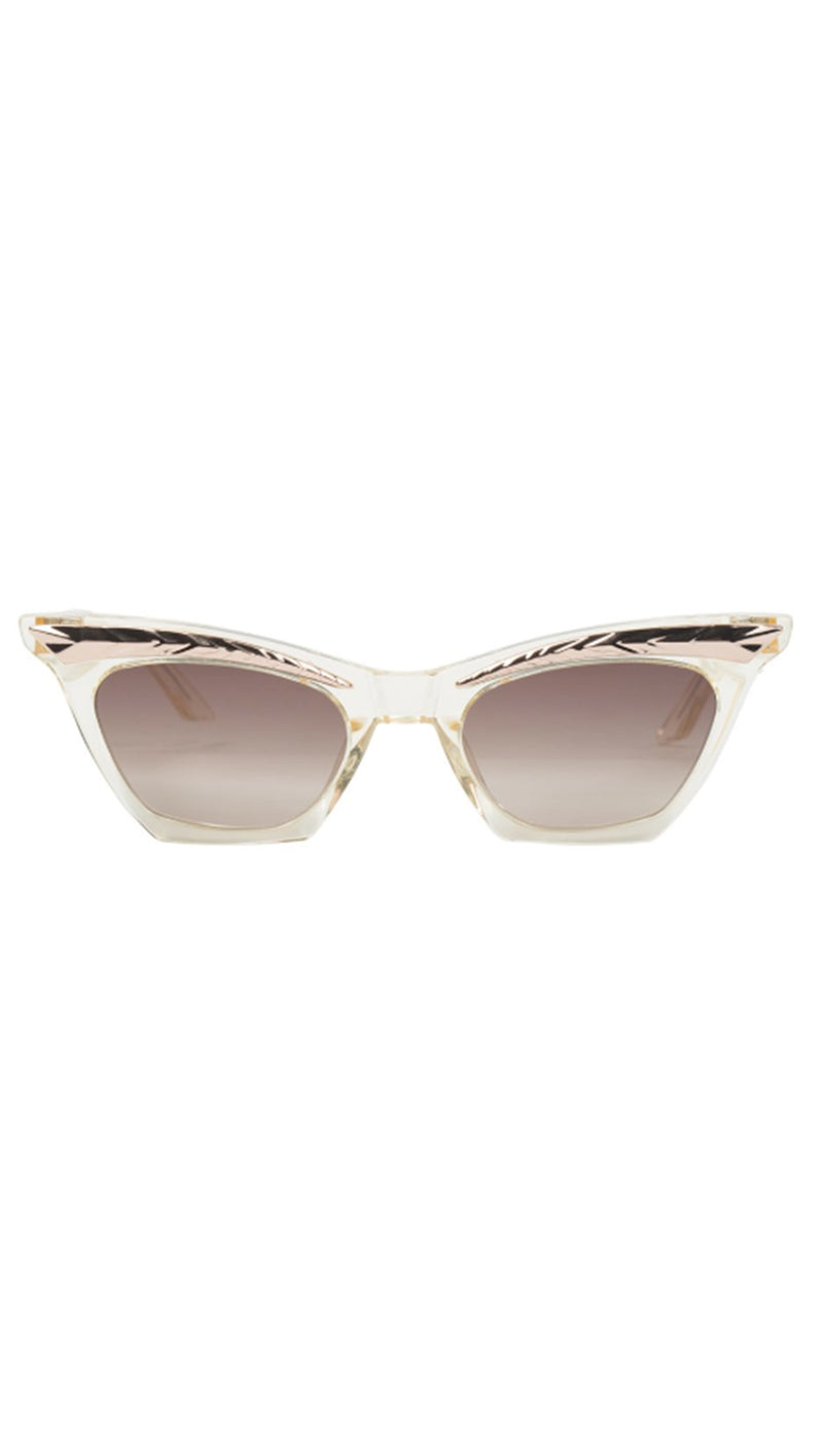 Valley Eyewear Beige Cat Eye Sunglasses