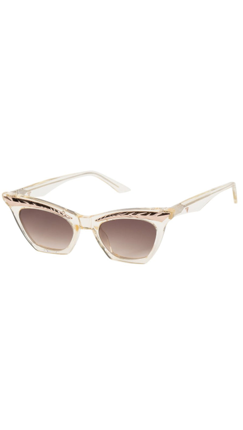 Seylah - Champagne With Rose Gold Metal Trim/Brown Gradient Lens