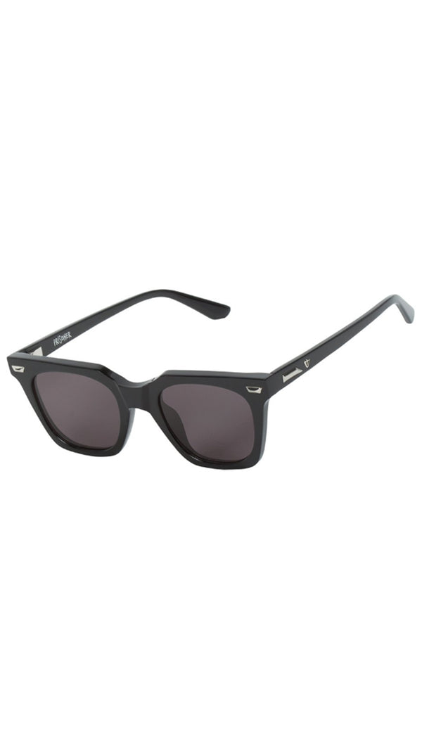 Prisoner - Gloss Black with Gloss Silver Metal Trim/Black Lens
