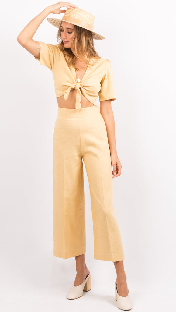 Yellow High Waist Pants