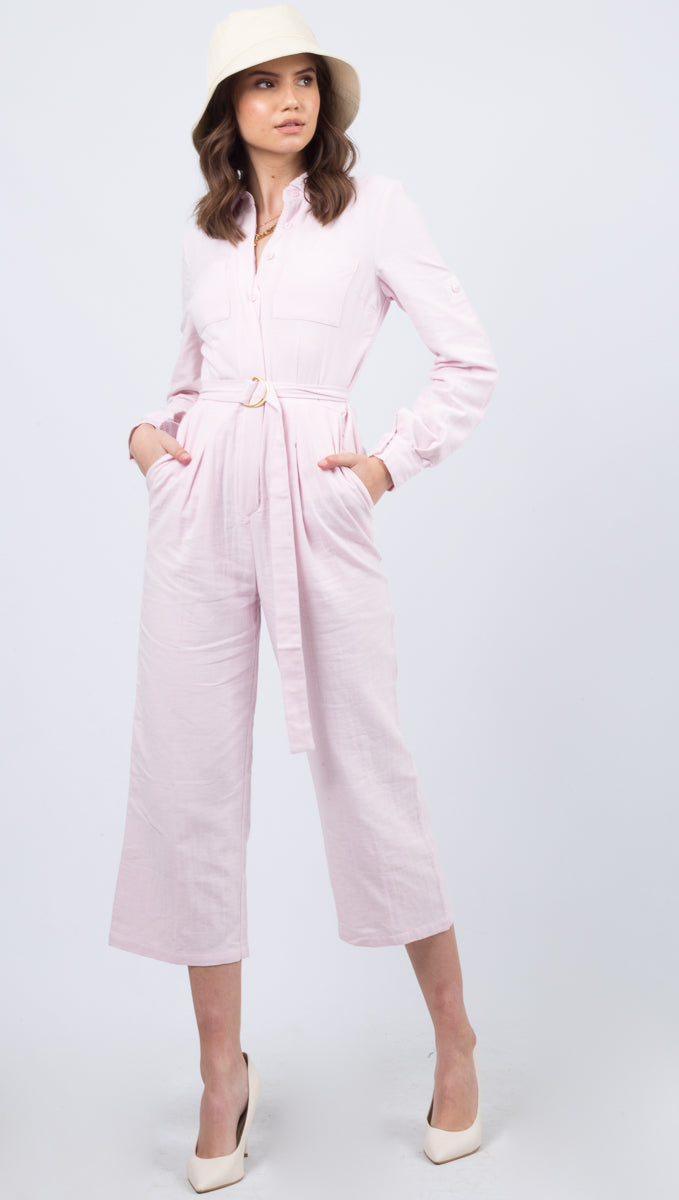 Just A Girl Jumpsuit - Pink