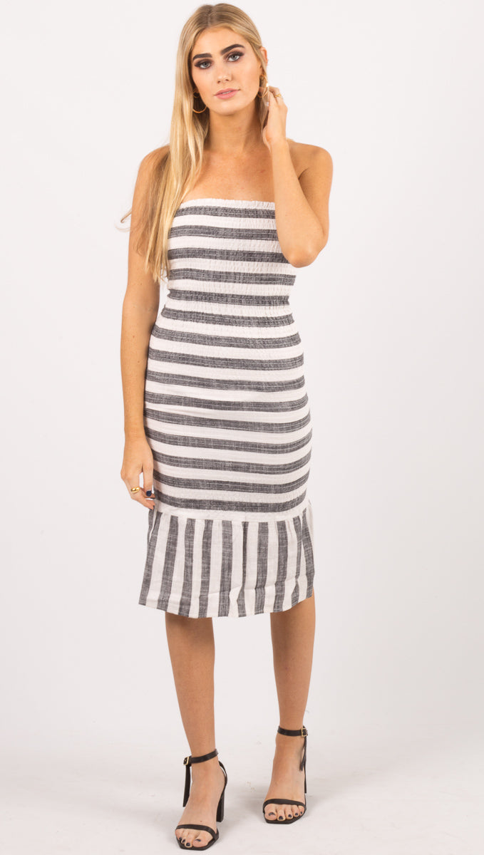 Bronski Beat Smocked Dress - Stripe