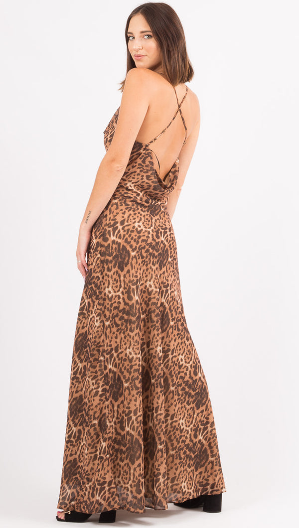Love Is The Drug Cowl Maxi - Leopard