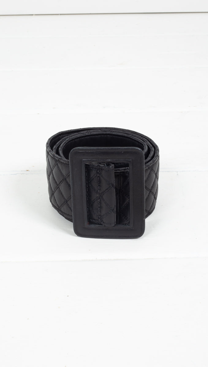 Quilted Leather Belt