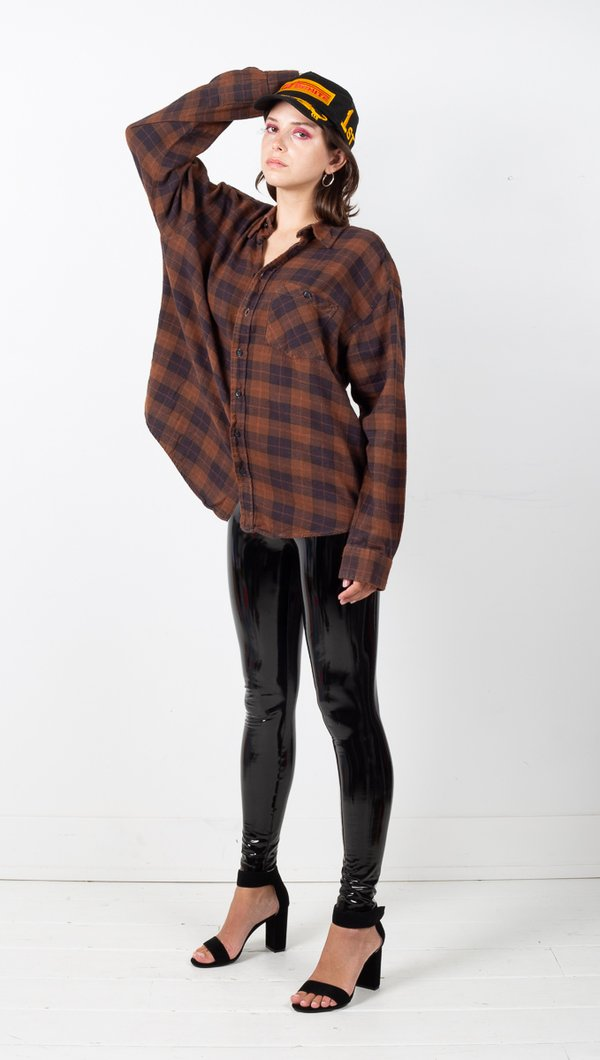 Vintage Plaid Flannel - Clay
