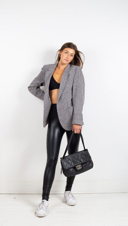 Vintage Tweed Blazer - Grey
