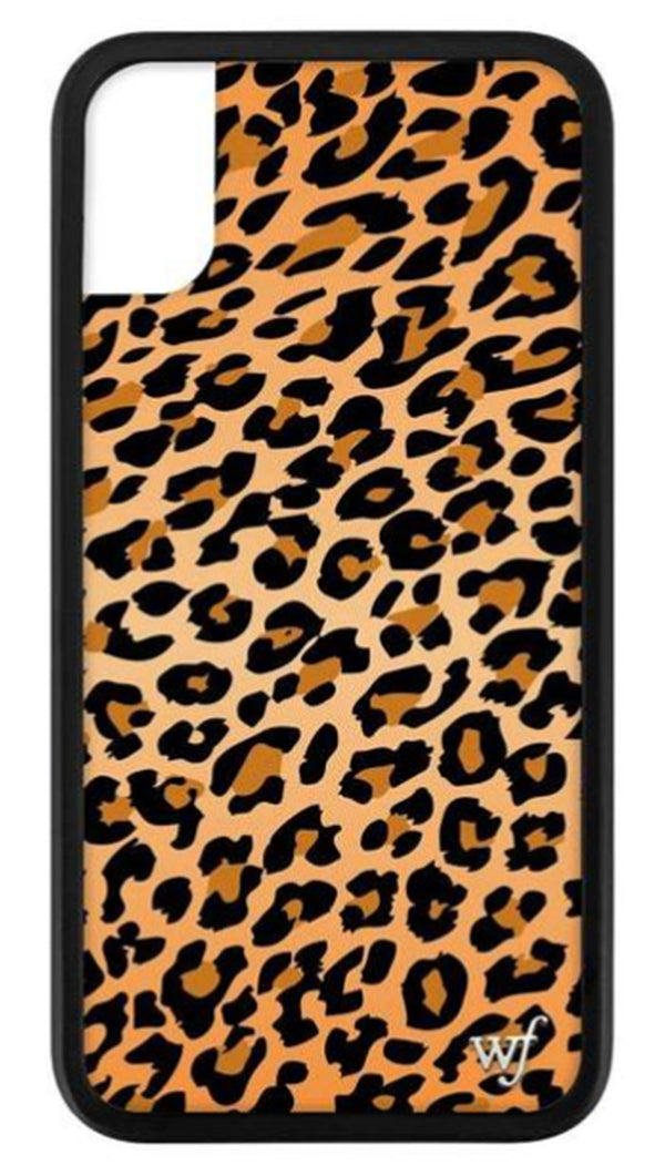 Wildflower Leopard Rubber Edge iPhone Case