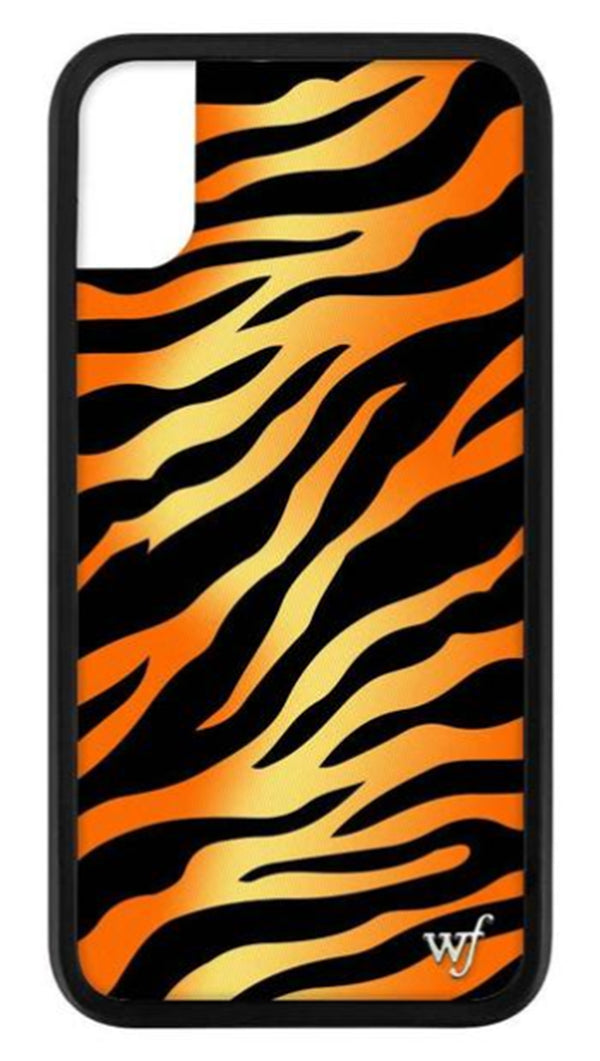Wildflower Tiger Rubber Edge iPhone Case