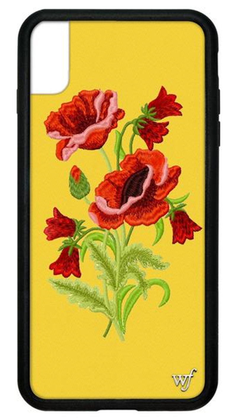 Wildflower Yellow Floral Rubber Edge iPhone Case
