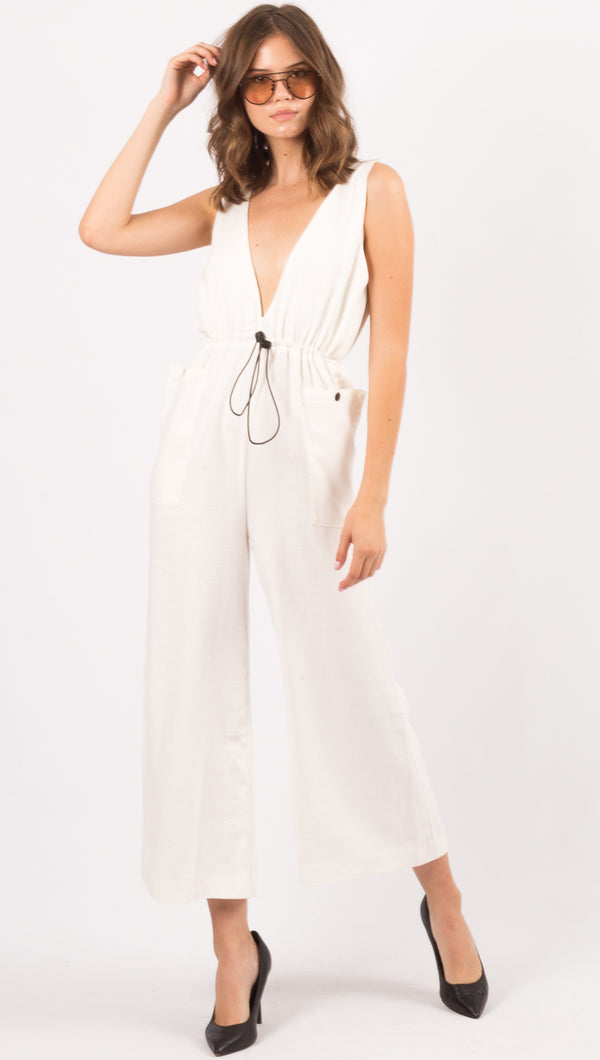 Winter Muse White Jumpsuit