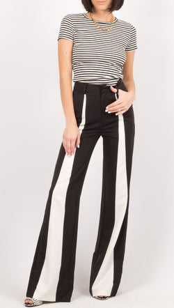 Winter Muse Black/White High Rise Pants