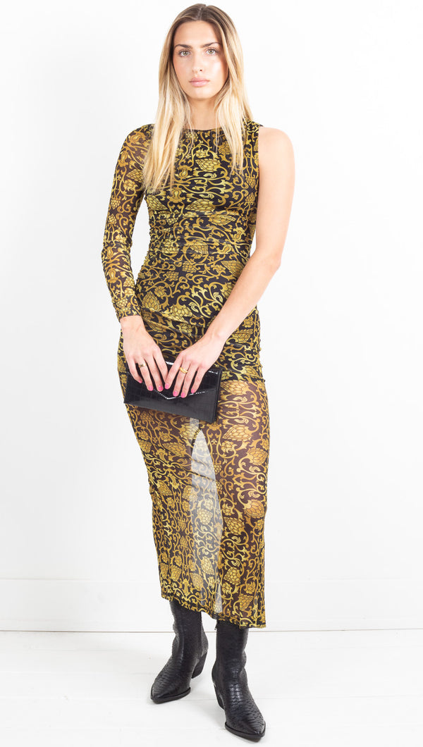 Cleopatra Dress - Gold Floral