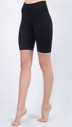 Year Of Ours Black High Waisted Ribbed Biker Short